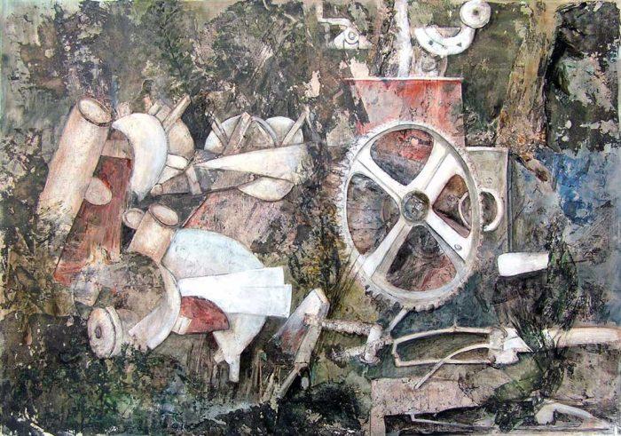 Françoise Guillemare 2008 - Machine à peindre - Dessin et peinture acrylique sur transferts (III)