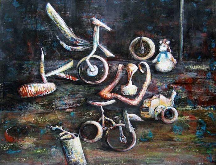 Isabelle Bisson 2008 - Machine à peindre - Peinture acrylique