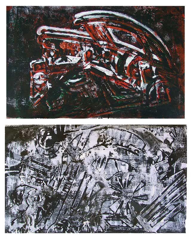 Jacqueline Putatti 2008 - Machine à peindre - Monotypes