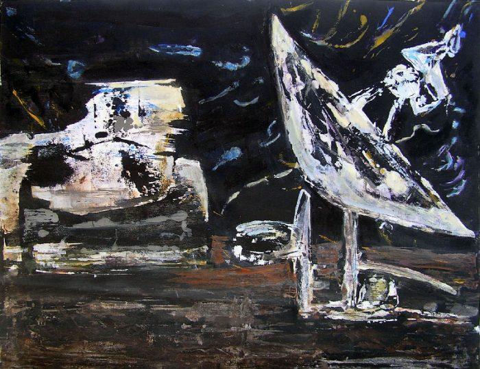 Lucie Avril 2008 - Machine à peindre - Réinterprétation gestuelle d'un monotype
