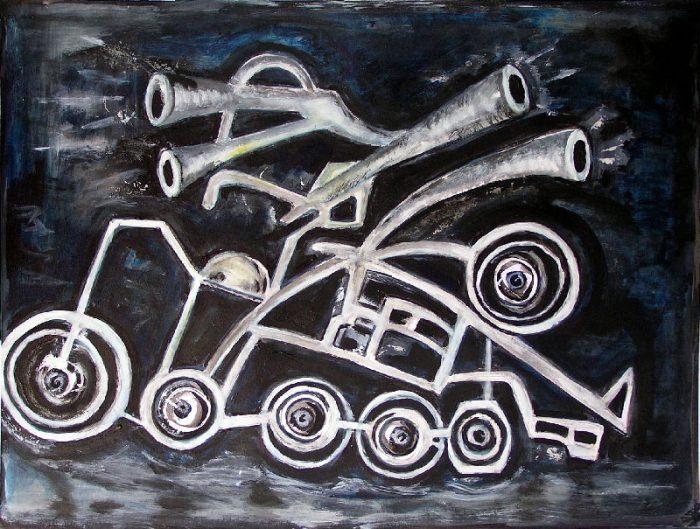 Madeleine Gautier-Brun 2008 - Machine à peindre - Acrylique