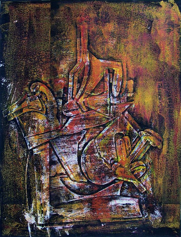 Martine Lucy 2008 - Machine à peindre - Monotype