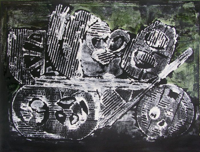 Pauline Dautel 2008 - Machine à peindre - Monotype (II)