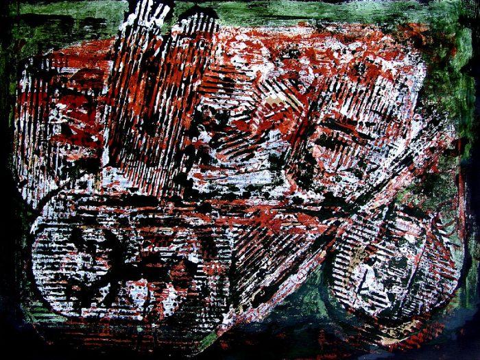 Pauline Dautel 2008 - Machine à peindre - Monotype (I)