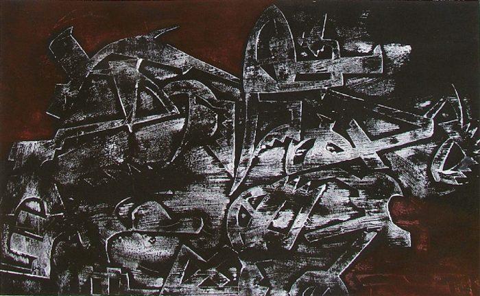 Solenne Blanc 2008 - Machine à peindre - Monotype