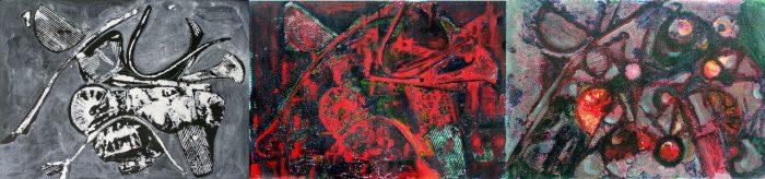 Yolande Bernard 2008 - Machine à peindre - peinture acrylique sur transferts