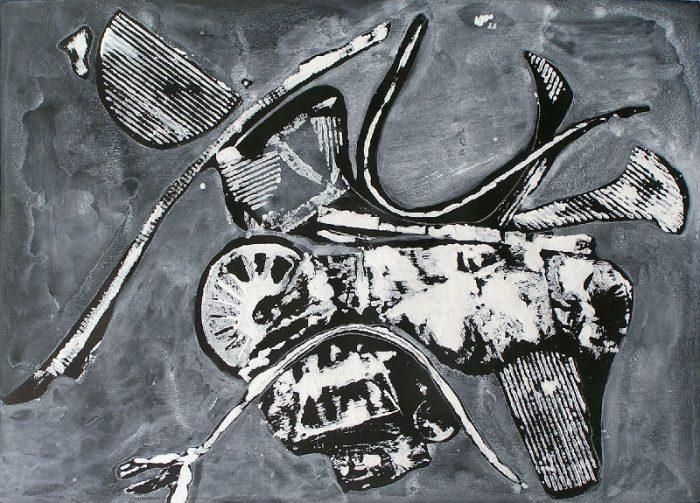 Yolande Bernard 2008 - Machine à peindre - Monotype