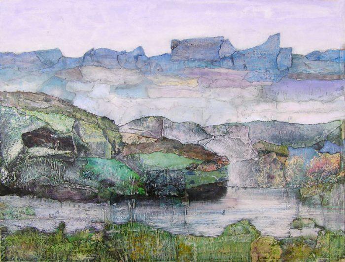 Brigitte Gobinet 2008 - Paysage à inventer - Acrylique sur papier collé poncé (II)