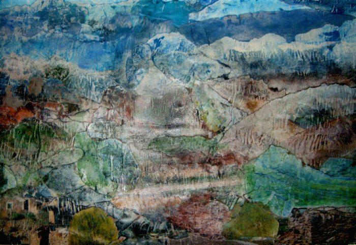 Geneviève Hily-Mane 2008 - Paysage à inventer - Acrylique sur papier collé poncé (I)