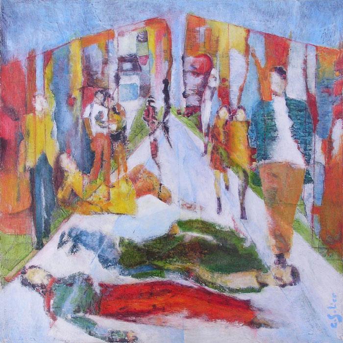Catherine Solier 2008 - L'énigme d'une rue - D'après la description d'une peinture de Kitaj : The Refugees