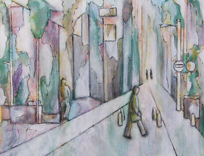 Kati Kukkasniemi 2008 - L'énigme d'une rue - Peinture acrylique