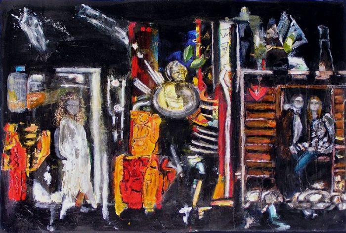 Madeleine Gautier-Brun 2008 - L'énigme d'une rue - Collage et acrylique (I)
