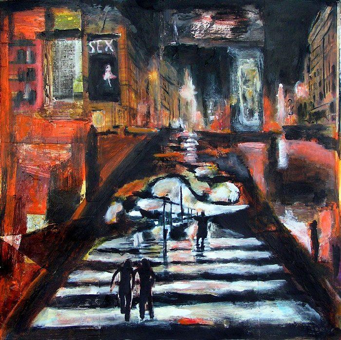 Madeleine Gautier-Brun 2008 - L'énigme d'une rue - Collage et acrylique (III)