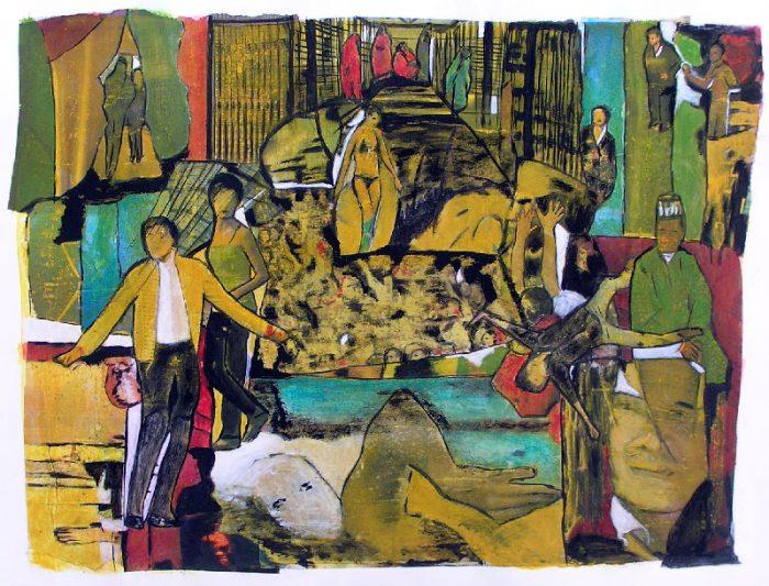 Marinette Le Hen 2008 - L'énigme d'une rue - Collage et acrylique
