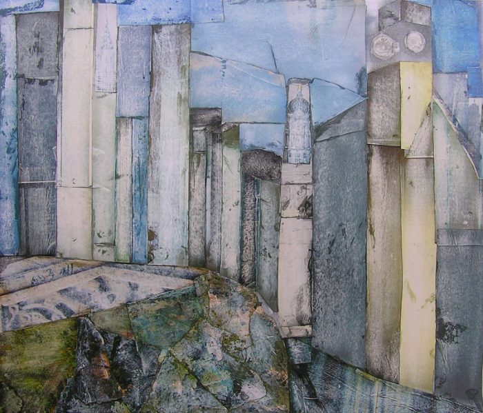Philippe Touati 2008 - L'énigme d'une rue - Papier collé poncé