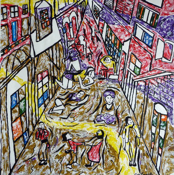 Stéphanie Rose-Tomasella 2008 - L'énigme d'une rue - Acrylique