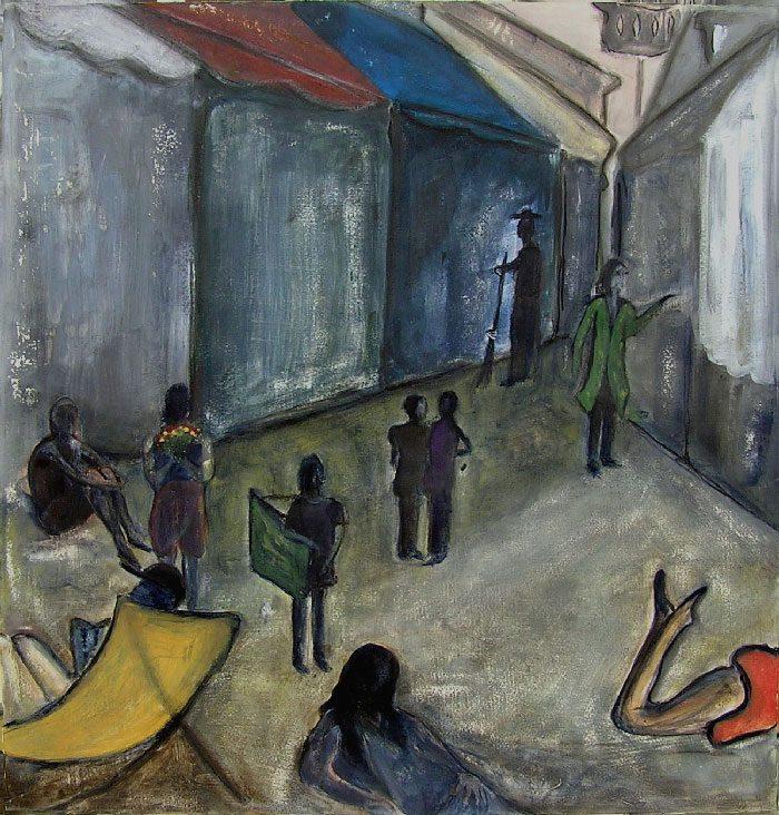 Yolande Bernard 2008 - L'énigme d'une rue - Acrylique