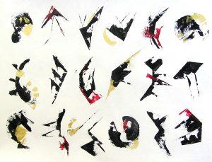 Isabelle Barnavon 2009 - Graines de peinture, première récolte.