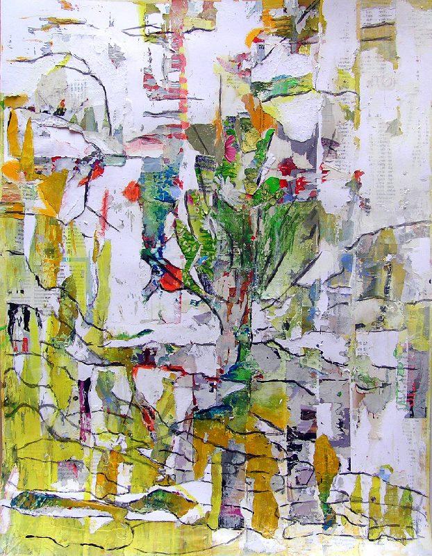 Dominique Delaroche 2009 - Les singularitez - Peinture sur collage
