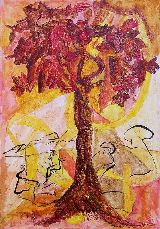 Eliane Le Roux 2009 - Les singularitez - Peinture sur mortier