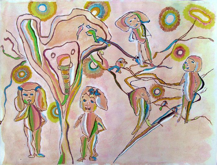 Elisabeth Menir 2009 - Les singularitez - Acrylique sur papier