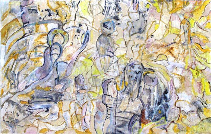 Geneviève Buchon 2009 - Les singularitez - Acrylique sur transferts