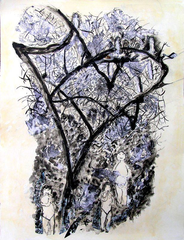 Geneviève Hily-Mane 2009 - Les singularitez - Acrylique sur papier