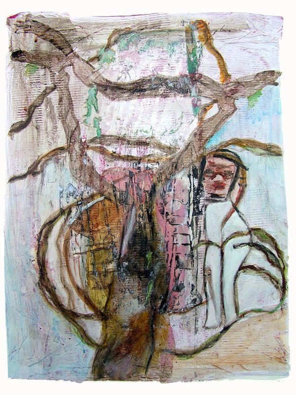 Gisèle Dubois 2009 - Les singularitez - Acrylique sur transferts (I)