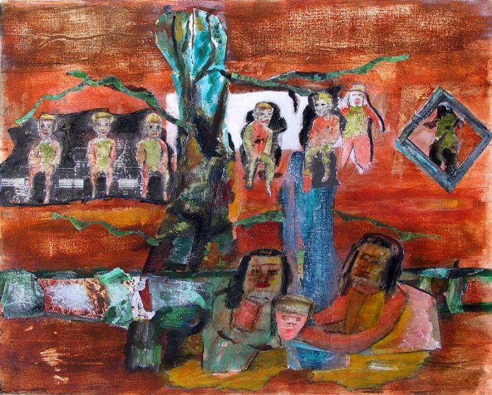 Gisèle Dubois 2009 - Les singularitez - Acrylique sur transferts (II)