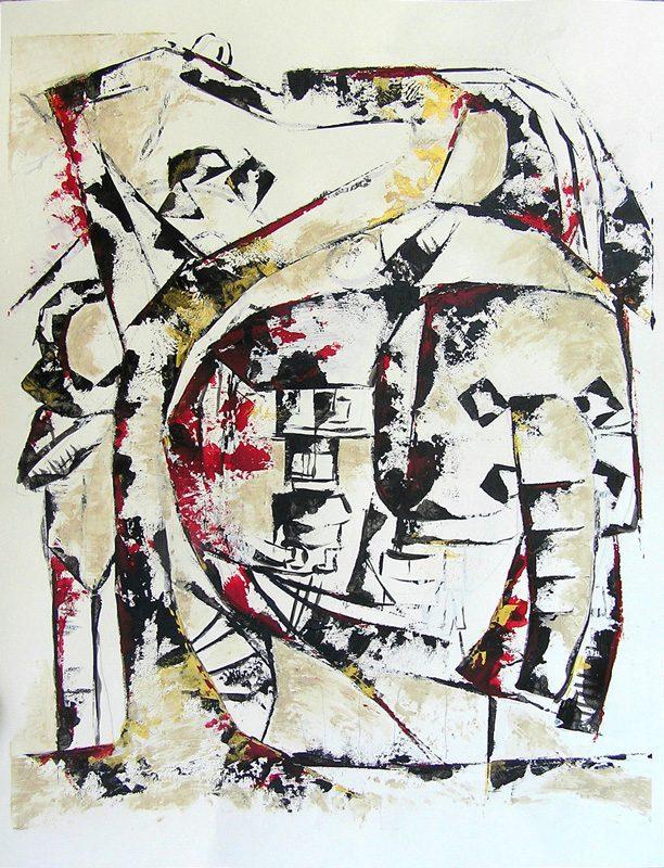 Isabelle Barnavon 2009 - Les singularitez - Acrylique au couteau sur papier