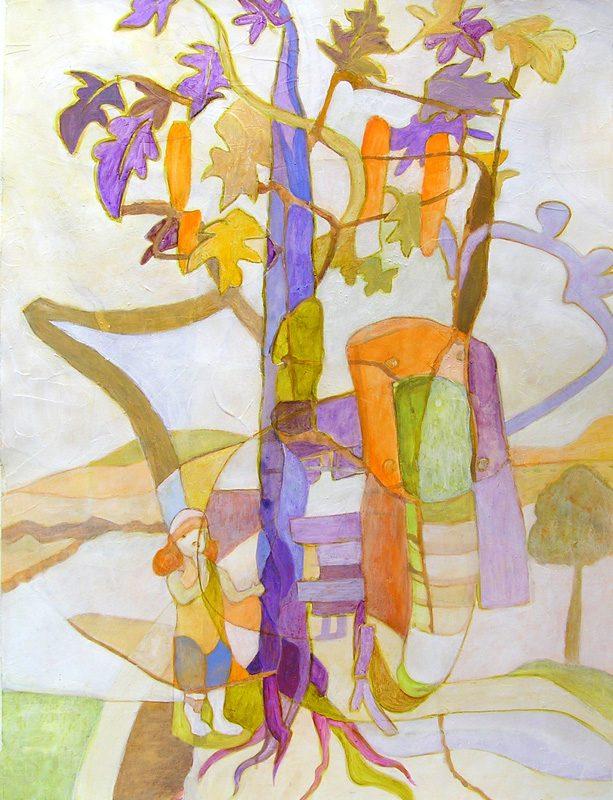 Isabelle Bisson 2009 - Les singularitez - Acrylique sur papier texturé au gesso