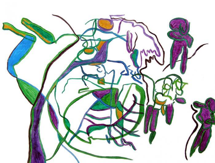 Jocelyne Colas 2009 - Les singularitez - Acrylique sur papier