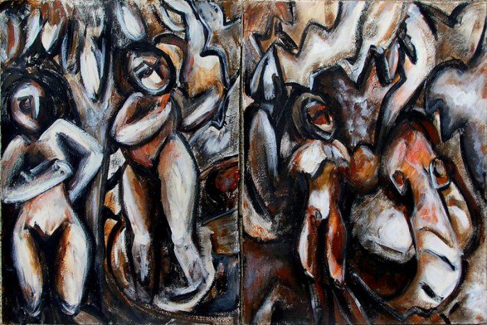 Ladin Sabras 2009 - Les singularitez - Acrylique sur papier