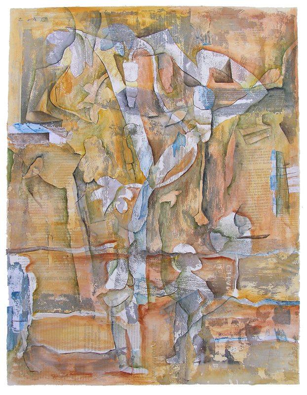 Martine Lucy 2009 - Les singularitez - Acrylique sur transferts