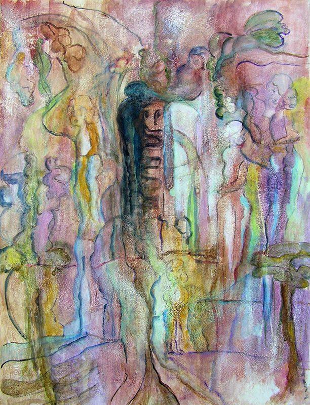 Mireille Vincent 2009 - Les singularitez - Acrylique sur mortier