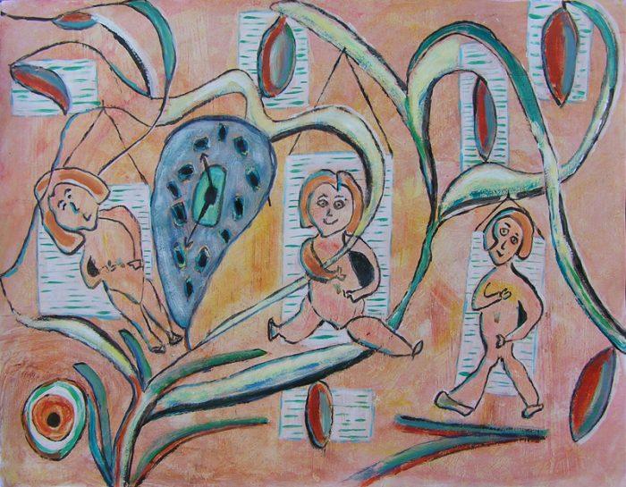 Monique Pavie 2009 - Les singularitez - Acrylique sur papier