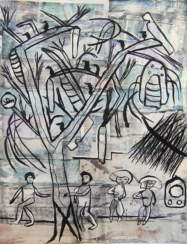 Philippe Touati 2009 - Les singularitez - Acrylique sur transferts