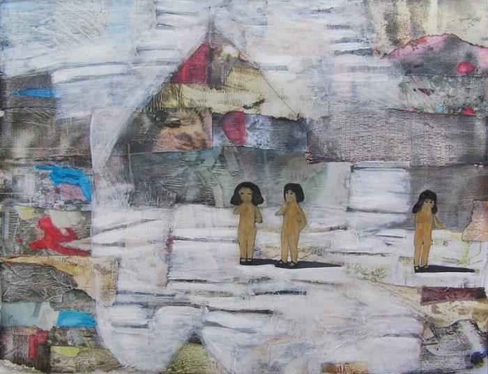 Philippe Touati 2009 - Les singularitez - Acrylique sur papier collé poncé