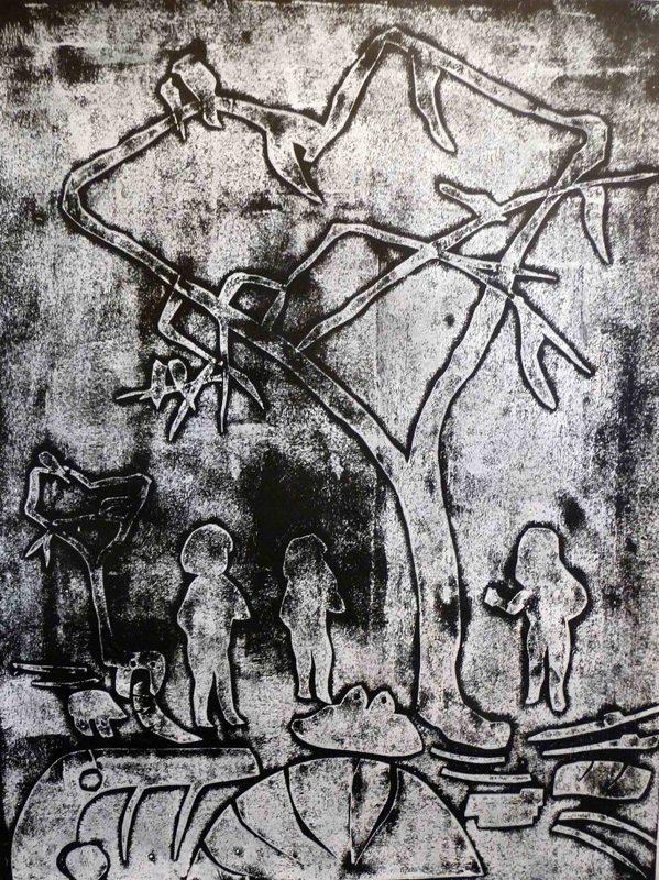 Stéphanie Rose-Tomasella 2009 - Promenons nous dans le bois - Monotype