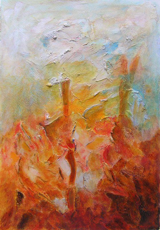 Yvonne Thoumyre 2009 - Les singularitez - Acrylique sur mortier