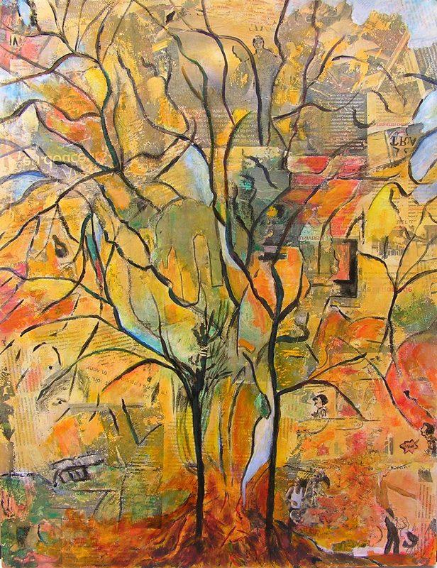 Yvonne Thoumyre 2009 - Les singularitez - Acrylique sur transferts