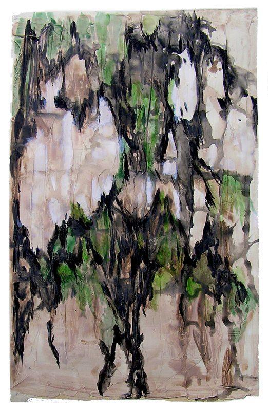 Jacqueline Putatti 2009 - Paysage de montagne - Acrylique sur mortier