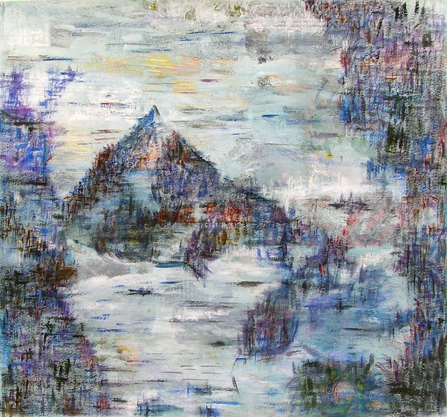 Martine Lucy 2009 - Paysage de montagne - Acrylique sur transferts