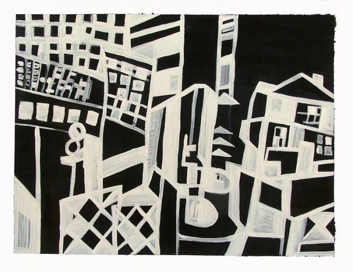 Pauline Dautel 2009 - Abstraction en chantier - Dessin à l'acrylique