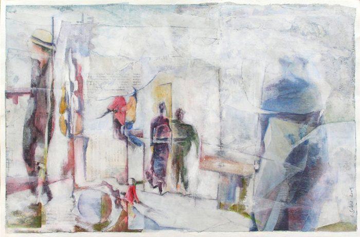 Catherine Solier 2009 - S.O.S. Sélection — Organisation — Simplification - Peinture acrylique sur papiers collés.