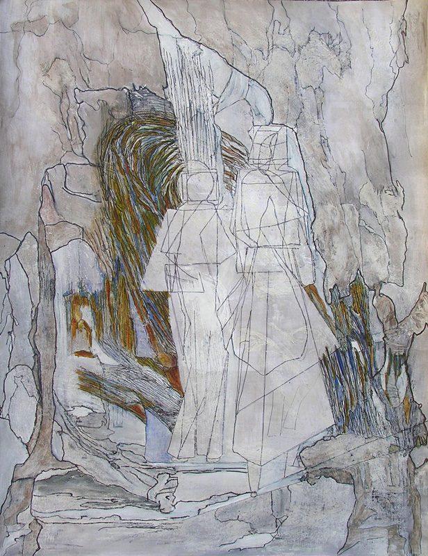 Katerine Bruneau 2009 - S.O.S. Sélection — Organisation — Simplification - Peinture acrylique sur transferts.