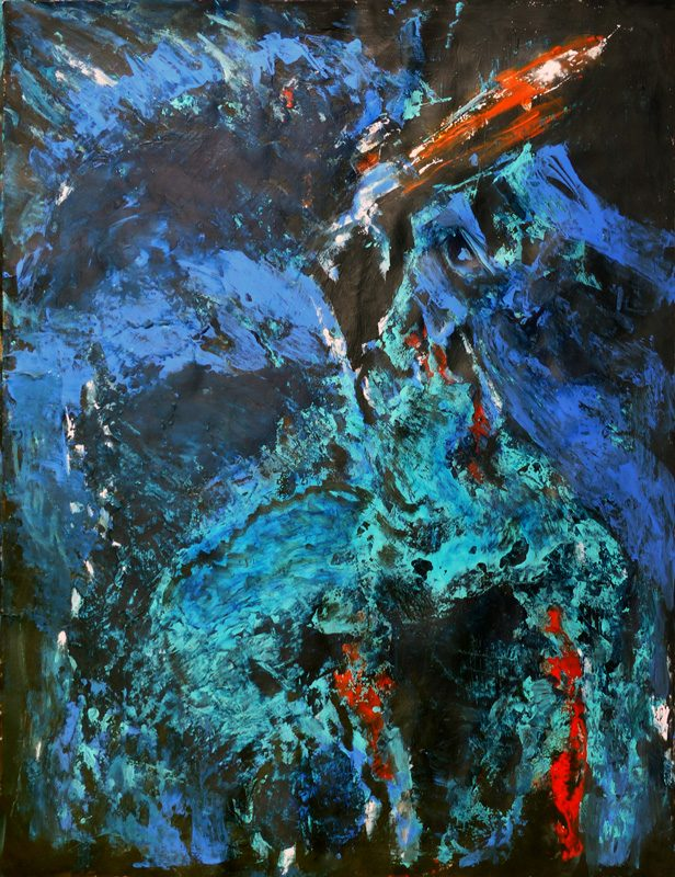 Madeleine Gautier-Brun 2018 Chaos 4 - Acrylique sur papier 50 x 65 cm