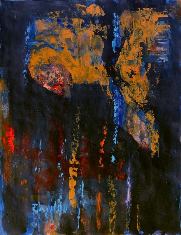Madeleine Gautier-Brun 2018 Chaos 5 - Acrylique sur papier 50 x 65 cm