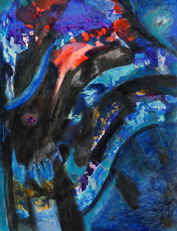 Madeleine Gautier-Brun 2018 Chaos 2 - Acrylique sur papier 50 x 65 cm
