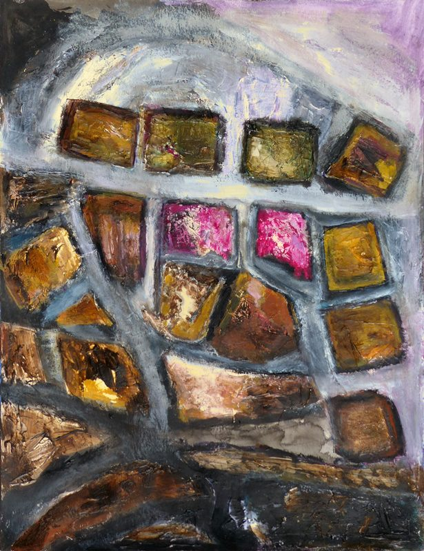 Madeleine Gautier-Brun 2018 Chaos 6 - Acrylique sur papier 50 x 65 cm
